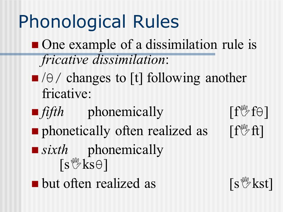 Phonological rule epenthesis